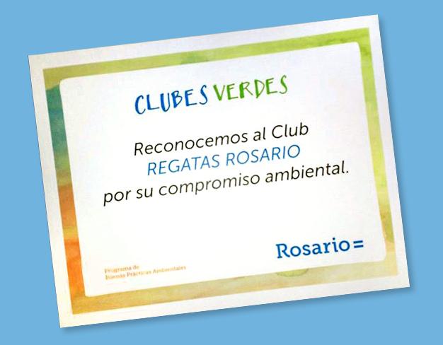 Nuestro Club recibió una certificación de la Municipalidad de Rosario por su compromiso ambiental
